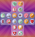 Healthcare icon set vector image