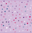 heart confetti seamless pattern on striped vector image