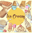 ice cream hand drawn menu design vector image vector image