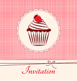 Invitation applique card background vector image vector image
