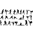karate and soccer kids vector image vector image