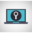 laptop device icon vector image vector image