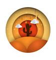 lifeless desert - paper vector image