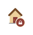 locked house glyph icon vector image vector image
