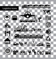 logistics export icon set vector image vector image