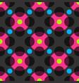 magic circles seamless pattern vector image vector image