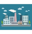 Manufacturing Buildings vector image vector image