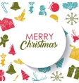 Merry Christmas background design vector image vector image