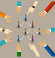 multi level marketing or mlm concept business vector image