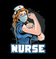 nurse and doctor use mask with strong power to pro vector image vector image