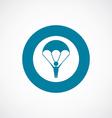 parachutist icon bold blue circle border vector image vector image