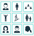 people icons set collection of businesswoman vector image vector image