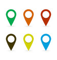 pin tag in flat style with shadow vector image vector image