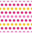 pink and yellow polka dots on white background vector image vector image