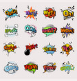 pop art comic speech bubbles popart style vector image