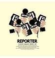 Reporter Concept vector image