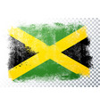 scratched jamaica flag with grunge texture vector image