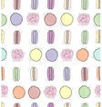 seamless floral pattern with macaroon vector image