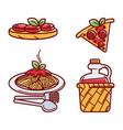 set italian food vector image vector image