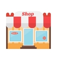 shop icon made in flat design vector image