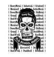 skull music 0001 vector image