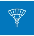 Skydiving line icon vector image vector image