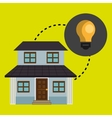 smart home with bulb isolated icon design vector image vector image