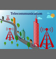telecommunication tower and transmitter tower vector image