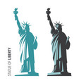 the statue of liberty in vector image vector image