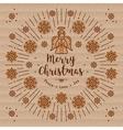 Trendy Christmas card Xmas Angel Kraft paper vector image vector image