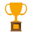 trophy cup championship symbol vector image vector image