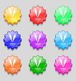 vegetarian cuisine icon sign symbol on nine wavy vector image vector image