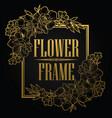 vintage frame flower gold vector image