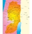 West Bank vector image vector image