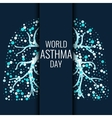 World Asthma Day banner vector image vector image