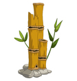 yellow bamboo for you design vector image