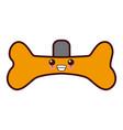 dog collar symbol kawaii cute cartoon vector image