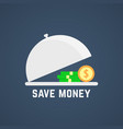 save money with open dish vector image
