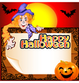 background Halloween with the Scarecrow vector image