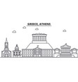 greece athens architecture line skyline vector image