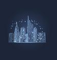 night city lights icon vector image