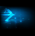 abstract technology background with arrow future vector image