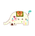 An elephant is standing vector image vector image