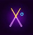 billiards cue neon sign vector image vector image