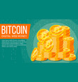 bitcoin banner digital web money gold vector image