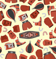 Boxing objects Seamless Pattern background Gloves vector image vector image