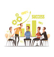 business meeting composition vector image vector image