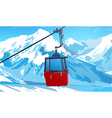 Cableway vector image