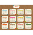 Calendar 2012 for your design vector | Price: 1 Credit (USD $1)