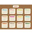 calendar 2012 for your design vector image